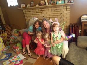 Nana Bear, Princess Mommy, Orange, Pink and Purple