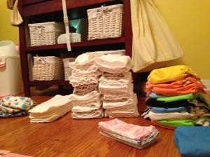 Freshly Folded Diaper Laundry