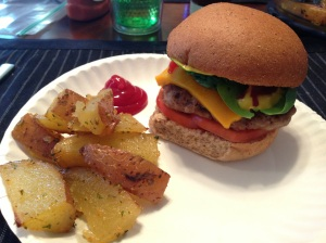 Featured Dinner: Bratwurst Burgers and Parmesan Oven Fries