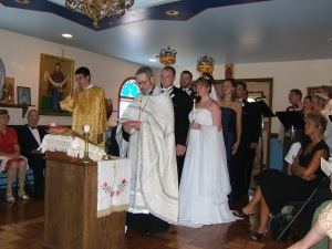 Traditional Russian Orthodox wedding ceremony