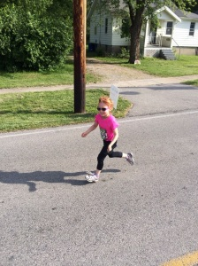 Orange flying through her run and smiling the whole way
