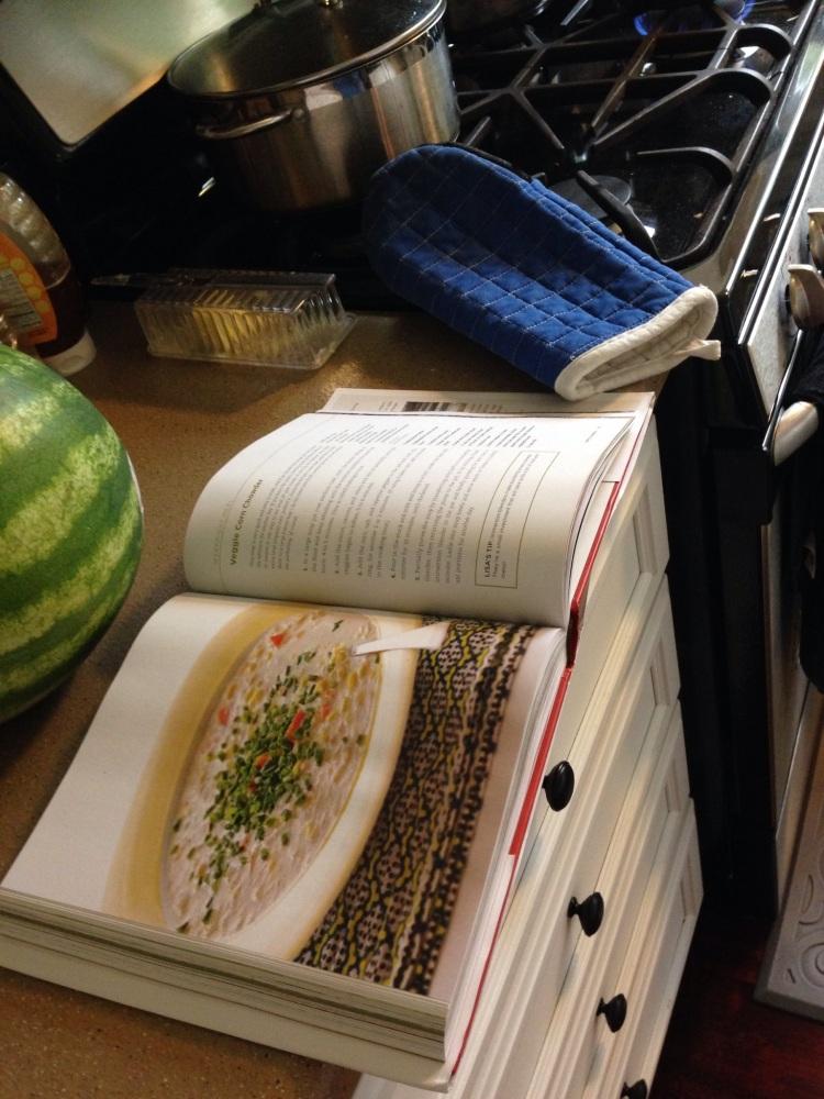 Recipe: Veggie Corn Chowder (A #100DaysCookbook Review) (1/3)